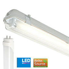 Non-Corrosive IP65 2FT Single Batten Fitting T8 Brite Source Daylight LED Tube