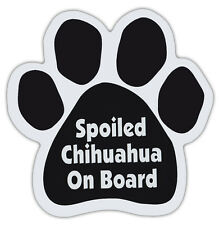 Dog Paw Shaped Magnets: SPOILED CHIHUAHUA ON BOARD | Dogs, Gifts, Cars, Trucks