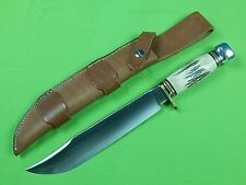 US Marbles Gladstone MI 2000 Large Bowie Hunting Knife & Sheath