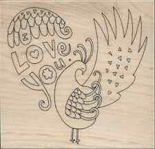"""""""Bright Heart"""" Rubber Stamp by Penny Black"""