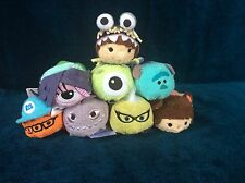 DISNEY STORE  8 MONSTERS INC TSUM TSUM BNWT COMPLETE SET GENUINE BNWT CELIA BOO