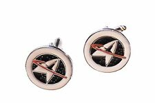 Star Trek STARFLEET COMMAND Metal/ Enamel CUFFLINKS