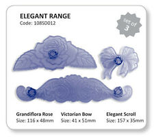 Elegant Cutters Group - Rose, Bow & Scroll 3 ct from JEM 7401 - NEW