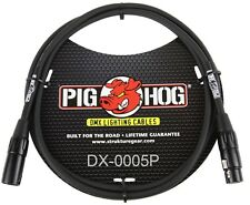 5ft Pig-Hog XLR 3-Pin M/F DMX Shielded Stage Lighting Data Cable, DX-0005P