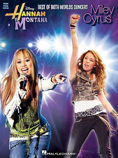 Hannah Montana Miley Cyrus Best Of Both Worlds Concert Music Book Piano Guitar