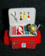 2011 Hallmark Keepsake Christmas Orament Cast Away Fishing Reel Tackle Box New