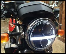 "Headlight Headlamp LED CREE x 1 Light 7"" Cafe Racer Motorbike Bike E APPROVED"