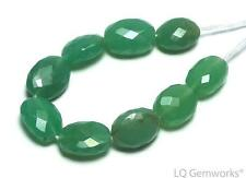 9 pcs CHRYSOPRASE 8-9mm Faceted Oval Beads NATURAL