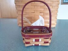 Longaberger 2016 Red Christmas Holiday LIttle Gifts booking basket w/ prot  NEW