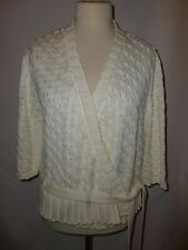 MARKS & SPENCER LIMITED COLLECTION CABLE KNIT WRAP OVER  CARDIGAN  SIZE UK XL