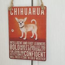 CHIHUAHUA DOG MINI METAL CHIC N SHABBY VINTAGE RETRO SIGN