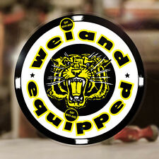 """Weiand Equipped sticker decal old school drag racing V8 hot rod 4.5"""""""