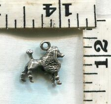 """Vintage Sterling Bracelet Charm~A Great Poodle For $12.99.May Be """"Beau""""."""