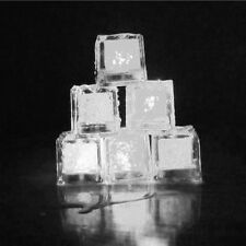 12pcs LED Ice Cubes Colorful Change Water Circulate Sensor Flashing LED Lights /