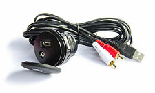 Auto PKW LKW USB AUX Einbau Buchse 2m Verlängerung Klinke Adapter /USB-1000