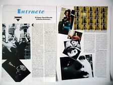 "COUPURE DE PRESSE-CLIPPING : Jean-Paul GOUDE [2pages] 05/1990 pour pub ""Egoïste"""
