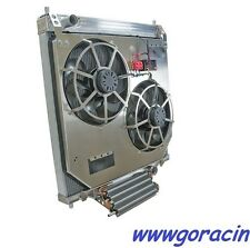 Direct Fit Alum.Radiator w/Electric Fans,Transmission Cooler Ford SuperDuty 6.0~