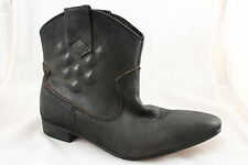 Womens H By Hudson Flight Cowboy Black Washed Leather boots Uk  Size 8