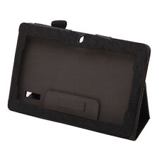 Caring Folio Black Folding Stand PU Leather Case Cover for iRULU 7inch Q8 Tablet