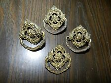Lot of 4 Brass Vintage Drawer Pulls