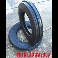 TWO 7.5LX15, 7.5l-15 F-2 Triple Rib Front Farm Tractor Tubeless 8 Ply Tires