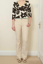 BNWOT DOLCE GABBANA GORGEOUS CREME CORDUROY TROUSERS W LEATHER BELT S 27 RRP£320