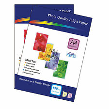 200 Sheets of A4 130gsm High Quality Matte Photo Paper for Inkjet Printers