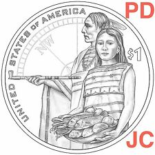 2014 P D SACAGAWEA Native American Hospitality Lewis and Clark Golden Dollar PD