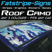 FULL CAR ROOF CAMO KIT GRAPHICS STICKERS DECALS CAMOUFLAGE VINYL WRAP ST VW