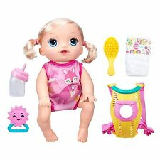 Baby Alive Baby Go Bye-Bye Doll - Blonde - Speaks English & Spanish Brand New!