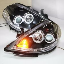 For NISSAN Tiida LED Headlights LED Angel Eyes Lamps 2007 to 2010 Year LF