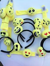 Emoji 6 Headband/ 6 slap on bracelet Emotion  Happy Face BOY/GIRL Party Favors