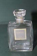 VINTAGE MINI MAGIE LANCOME ART DECO GLASS EMPTY PERFUME BOTTLE