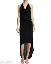 LAUNDRY BY SHELLI SEGAL Beaded Halter-Neck Gown, Black - NWT SIZE 0
