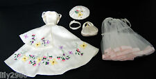 Gene Marshall Garden Party Fashion Dress Hat White Flowers Violet Madra Ivy