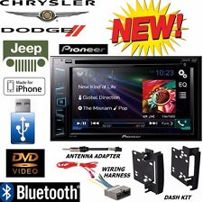 CHRYSLER JEEP DODGE Pioneer Bluetooth USB Aux Double Din DVD CD CAR Radio Stereo