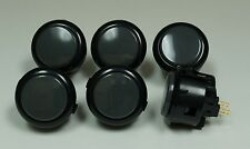 Japan Sanwa Buttons OBSF-30-K/DH Black Grey x 6 pcs Video Game Arcade parts