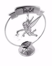 """DISNEY TINKERBELL ORNAMENT """"WISH"""" CHROME PLATED FREE STANDING BOXED DI264"""