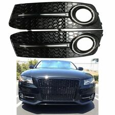 Glossy Standard Style Fog Light Cover Grille Grill For Audi A4 B8 2009-2011 2010