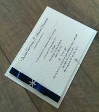 50 A6 handmade wedding/evening winter themed invitations, more colours available