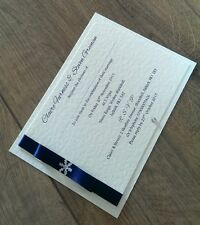 Sample x1 A6 handmade wedding/evening winter themed invitation (any colour)