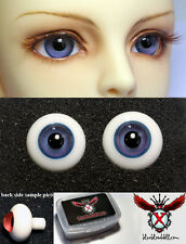 1/3 1/4 bjd 12mm grey blue high quality glass doll eyes dollfie #M-53