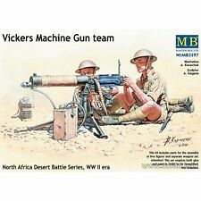 VICKERS MACHINE GUN TEAM WW II ERA 5 FIGURES 1/35 MASTER BOX 3597 DE
