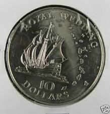 East Eastern Caribbean 10 Dollars Coin 1981, Royal Wedding