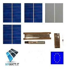 "KIT 36 CELLE SOLARI FOTOVOLTAICHE 78x78mm 3""x3"" SOLAR CELLS CELL PANEL PANNELLO"