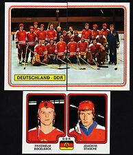 1979 Panini Hockey World Championships Team East Germany Set