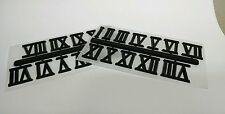 """3/4"""" Black ROMAN Clock Numbers NEW 2 SETS Easy snap off & self stick USA made"""