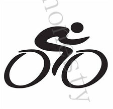 Bike Cycling Car Laptop Decal table glass wall  door  truck chair Sticker Black