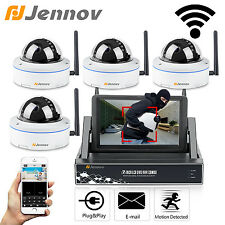 """Jennov 4CH 7"""" LCD Monitor 720P Wifi Wireless Security System IP Outdoor Camera"""