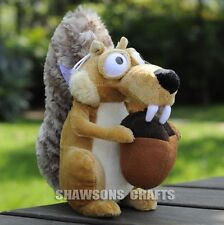 "ICE AGE PLUSH STUFFED TOYS 7"" SCRAT THE SQUIRRELS SOFT DOLL"